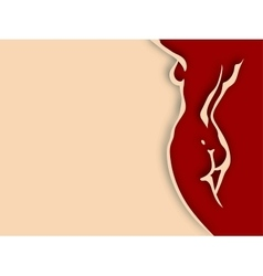 Woman torso paper design vector