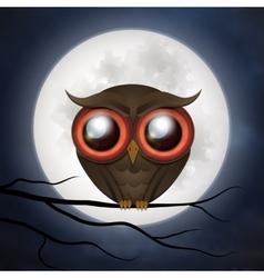 Happy Halloween cute owl vector image