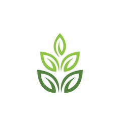Eco tree leaf logo template vector