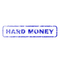 Hard money rubber stamp vector