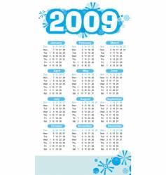 2009-calendar white vector image vector image