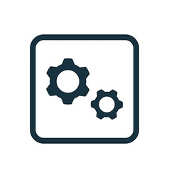 Settings icon rounded squares button vector