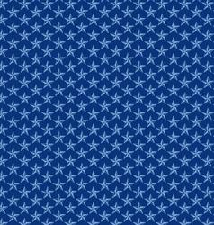 Seamless blue nautical stars vector