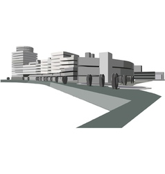 urban waterfront vector image
