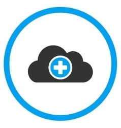 Health care cloud rounded icon vector