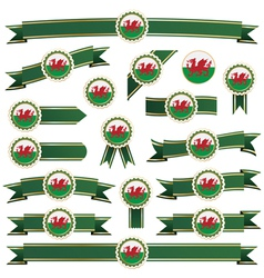 wales ribbons vector image