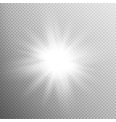 White glowing light burst effect eps 10 vector