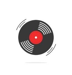 Vinyl record icon gramophone disk vector image