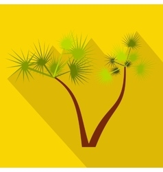 Palm trees icon flat style vector