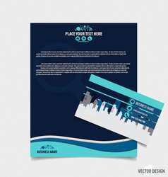 Abstract creative business paper template and vector