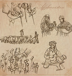 Afghanistan hand drawn pack no vector