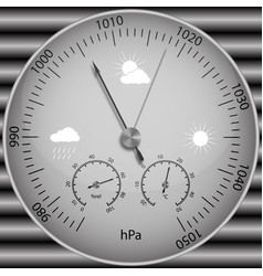 Barometer for determining atmospheric pressure vector