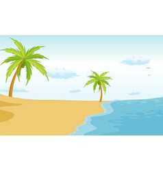 Beach paradise vector image vector image