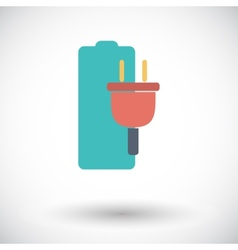 Charging the battery single icon vector