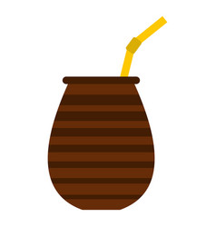 chimarrao for mate or terere icon isolated vector image vector image