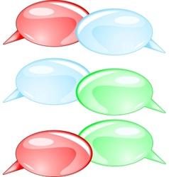 Couple speech bubbles vector image vector image