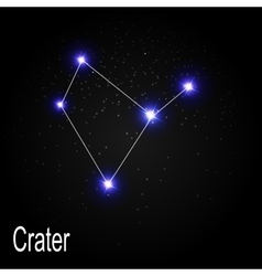 Crater constellation with beautiful bright stars vector