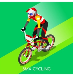 Cycling BMX 2016 Summer Games 3D Isometric vector image vector image
