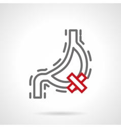 Digestive problems simple line icon vector