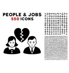 Divorce people icon with bonus vector