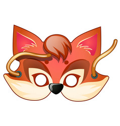 Fox mask carnival and masquerade accessories vector