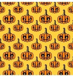 Halloween pattern with geometrical shape pumpkins vector image