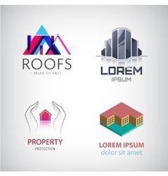 Home and real estate logo collection House office vector image vector image