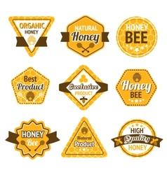 Honey labels set vector