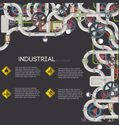Industrial manufacturing template vector