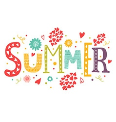 lettering Summer vector image
