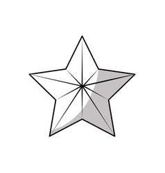 Line cute modern and birg star design vector