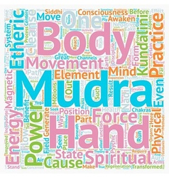 Mudras hand symbolism mudra power part text vector