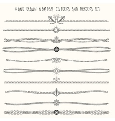 Nautical dividers set vector