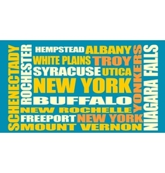 New york state cities list vector