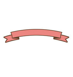 Pink ribbon banner ornament element style vector