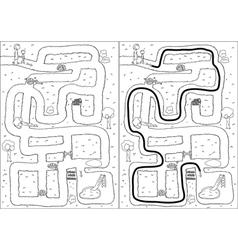 Playground maze vector image