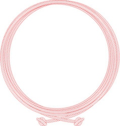 Rope Frame Background vector image vector image