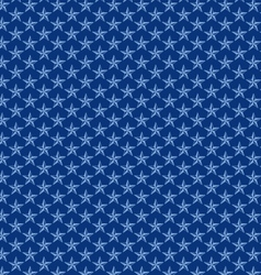 Seamless blue nautical stars vector