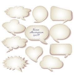 Speech bubbles cut from paper set eps 10 vector