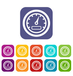 Speedometer icons set vector