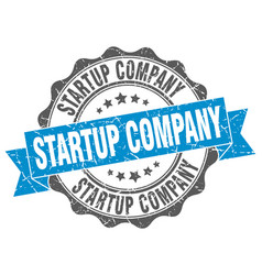 Startup company stamp sign seal vector