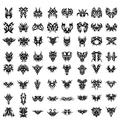 TRIBAL TATTOO SET vector image