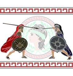 trojan war stencil second variant vector image