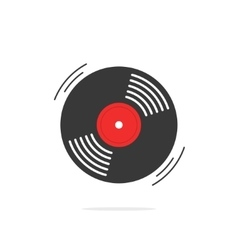 Vinyl record icon gramophone disk vector image