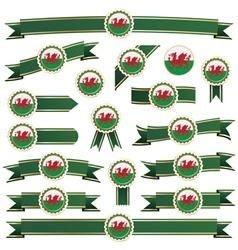 Wales ribbons vector