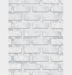 White painted brick wall seamless pattern eps 10 vector