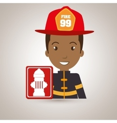 Man fire hydrant icon vector