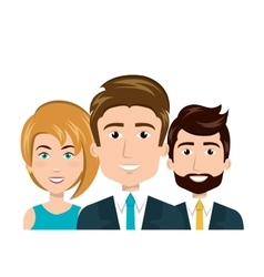 Character men and woman staff employee human vector