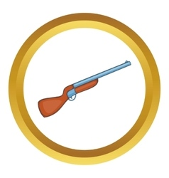 Hunting shotgun icon vector