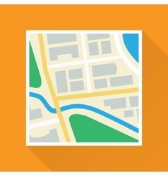 Paper map flat icon vector